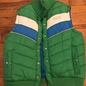 Roxy's Women green vest size XL